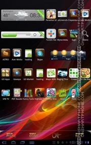 Xperia Color es el tema de pantalla