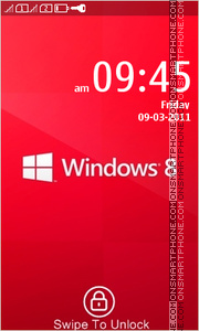 Windows 8 Red tema screenshot