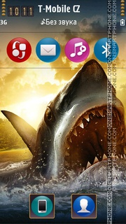 Shark Attack 3d theme screenshot