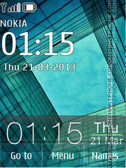 Android Galaxy Glass 01 theme screenshot