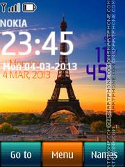Paris Digital Clock 02 theme screenshot