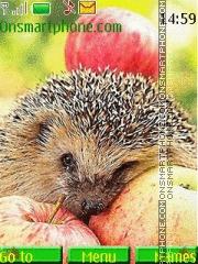 Hedgehog and Apples theme screenshot