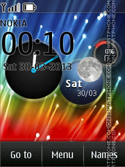 Hd Colorful Clock theme screenshot