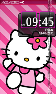 Hello Kitty 45 theme screenshot