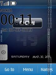 iPhone Blue Orbs theme screenshot
