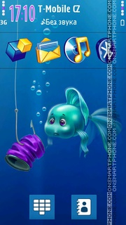 Aqua Surprise 3D Icons theme screenshot