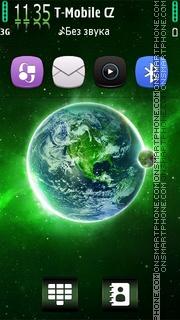 Green Galaxy HD v5 es el tema de pantalla