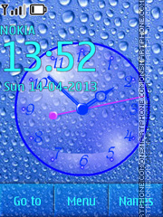 Water Drops Clock theme screenshot
