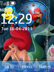 The Little Mermaid theme screenshot