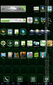 Green Magic Cube es el tema de pantalla
