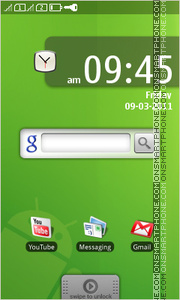 Green Android Jelly Bean tema screenshot