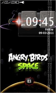 Angry Bird Space theme screenshot