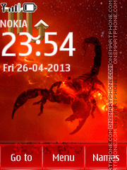 Scorpion theme screenshot