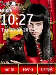 Girl with cat es el tema de pantalla