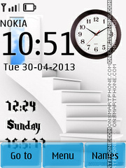 3d Stars Clock & Date theme screenshot