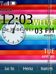Vivid Clock theme screenshot