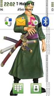 Zoro One Piece theme screenshot