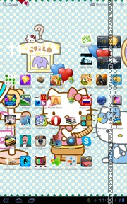 Hello Kitty 46 theme screenshot