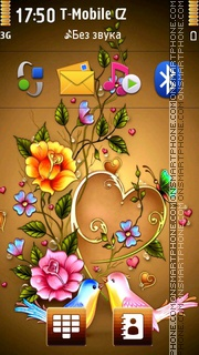 Love Birds 10 theme screenshot
