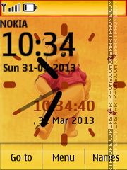 Pooh Clock 02 theme screenshot