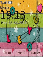 I Love U 3D Icons theme screenshot