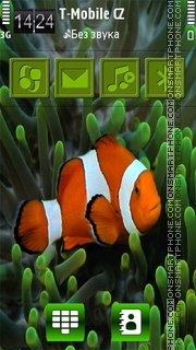 Fish love HD 01 theme screenshot