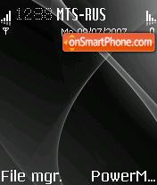 Black Abstract Mac OS theme screenshot