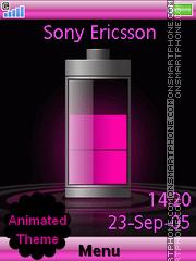 Pink Battery es el tema de pantalla