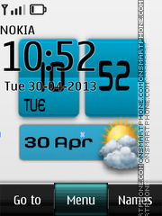 Weather Digital Clock theme screenshot