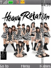 Jkt48 - Heavy Rotation tema screenshot