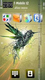 Flight Galaxy HD theme screenshot