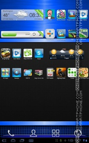 Blue Gloss 01 tema screenshot