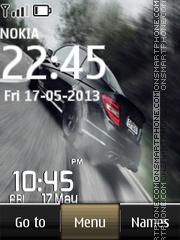 Drift Digital Clock theme screenshot