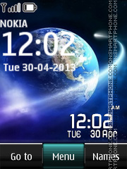 Galaxy Digital Clock 01 es el tema de pantalla