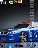 Blue Sport Car es el tema de pantalla