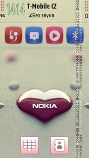 Nokia Heart theme screenshot