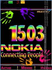 Nokia color theme screenshot