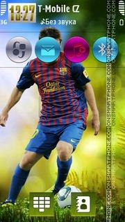 Messi Green HD v5 theme screenshot