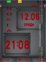 Clock Nokia theme screenshot