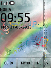 Music Notes Rainbow es el tema de pantalla