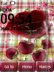 Tasty Cherries es el tema de pantalla