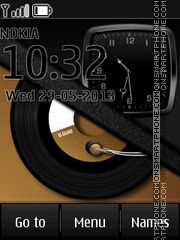 Musical Clock theme screenshot