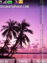 Purple Palms theme screenshot