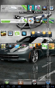 Corvette Stingray GT tema screenshot