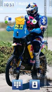 Moto Rally tema screenshot