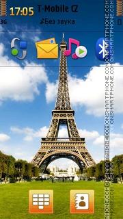 Eiffel Tower 16 es el tema de pantalla