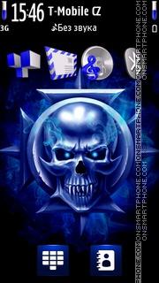 Skull Neon 01 theme screenshot