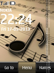 Music Digital Clock 02 tema screenshot