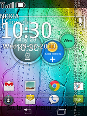 Motorola RAZR Clock theme screenshot