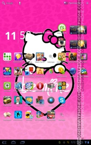 Hello Kitty 47 theme screenshot